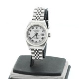 ROLEX Lady-Datejust Stainless Steel Fluted White Dial 26mm Automatic Watch