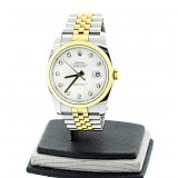 ROLEX Datejust  Two-Tone 18K Yellow Gold Fluted with Diamond 36mm Automatic watch