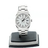Rolex Oyster Perpetual Date Stainless Steel White Dial 36mm Automatic Watch