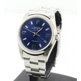 Rolex Air King Stainless Steel Blue Dial 34mm Automatic Watch