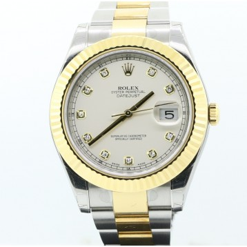 Rolex Datejust II Two-Tone 18K Yellow Gold Fluted 41mm Watch New with Box and Paper