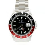 Rolex GMT Master II Stainless Steel Black-Red Coke Bezel Automatic Watch