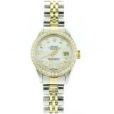 Rolex Lady-Datejust 2-Tone 18K Yellow Gold Diamond Bezel 26mm Automatic Watch