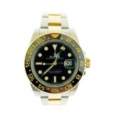 Rolex GMT Master II 18KY Gold Fluted bezel Balck Dial 40mm Automatic watch