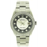 Rolex Oyster Perpetual Datejust Stainless Steel Diamond Bezel 36mm automatic Watch