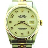 Rolex Datejust Two-Tone 18K Fluted Bezel 36mm Automatic Watch