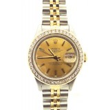 Rolex Lady-Datejust Yellow Gold With Diamond 26mm Watch