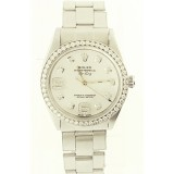 Rolex Oyster Perpetual with Mother of Pearl Diamond and Arabic Hour Dial 34mm Watch