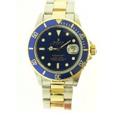 Rolex Submariner Stainless Steel and 18K Yellow Gold with Blue Dial 40mm Watch