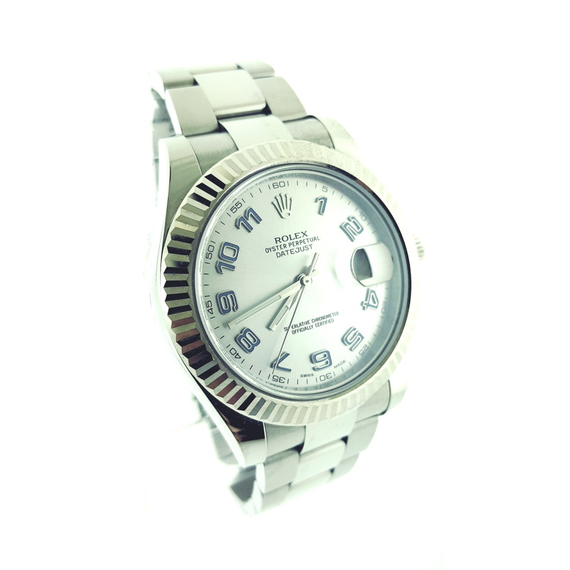 ee5fdc3fe2f Rolex Datejust II Stainless Steel Fluted Bezel with Rhodium Dial 41mm Watch  ...