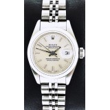Rolex Lady-Datejust White Gold Bezel Silver Dial Automatic 26mm Watch