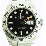 Rolex Explorer II Stainless Steel Black Dial 42mm Automatic Watch
