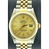 Rolex Datejust 16233 Champagne Tapestry  36mm Automatic watch