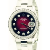 Rolex Oyster Perpetual Date Stainless Steel Wine-Red Dial 34mm Automatic watch