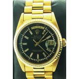 Rolex Day-Date Presidential 18k Yellow Gold Fluted with DIamond Dial 36mm Automatic Watch
