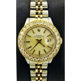 Rolex Lady-Datejust Yellow Gold bezel with Diamond Bezel 26mm Automatic Watch