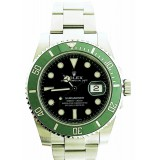 "Rolex Submariner Stainless Steel Geen ""Hulk"" Bezel 40mm Automatic Watch"