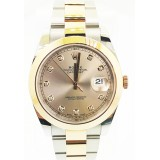 Rolex Datejust II 18K Rose Gold with Sundust Diamond Dial Automatic 41mm Watch