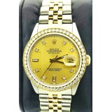 Rolex Datejust 18k Yellow Gold Bezel with Diamonds 36mm Automatic watch