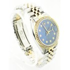 Rolex Datejust Diamond Bezel Blue Dial 36mm Automatic Watch