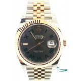 Rolex Datejust II Rose Gold 126331 Slate green Roman Dial 41mm Watch