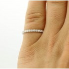 0.25 Ctw Diamond Half Eternity Wedding Band Set in 18K White Gold