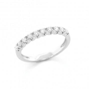0.25 Ctw Round Cut Diamond Wedding Band with U-Shape Setting