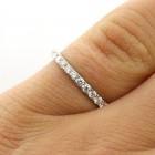 0.31 Ctw Round Cut Half-Eternity Diamond Wedding Band Set in 18K White Gold