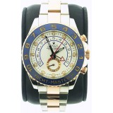 Rolex Yacht-Master II 18K Rose Gold Rotating Blue Ring Bezel White Dial 44mm Automatic Watch