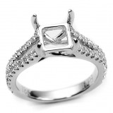Split Shank Diamond Engagement Ring Setting