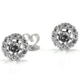 18K White Gold 1/2CT Diamond Earring Jackets