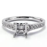 Petite Cathedral Pavé Diamond Engagement Ring