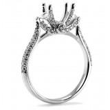 0.68CT Art Deco style, Diamond Pave Engagement Ring Setting.