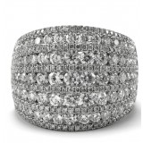 Wide Pave set Diamond Ring 3.18CT TW
