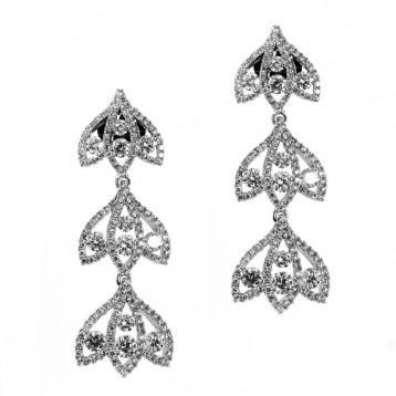 3 Tier Diamond Drop Earrings 2.75CT TW