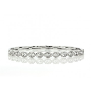 1.65Ct Elegant Diamond Bangle Bracelet