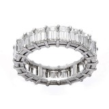 6.20CT Emerald Cut Diamond Eternity Band