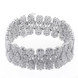 29.32 Cts Diamond Bracelet set in 18K white gold