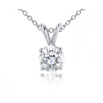 1.30CT Round Diamond Solitaire Pendant