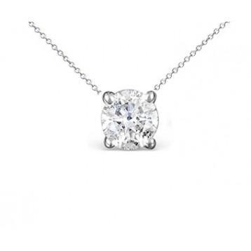 1.10CT Round Diamond Solitaire Pendant