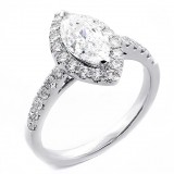 1.77 Cts Marquise Shaped Diamond Engagement Ring