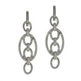 Oval Link Chandelier Diamond Earrings