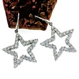 2.92 CT Diamond Star Earrings  in 18Kt White Gold