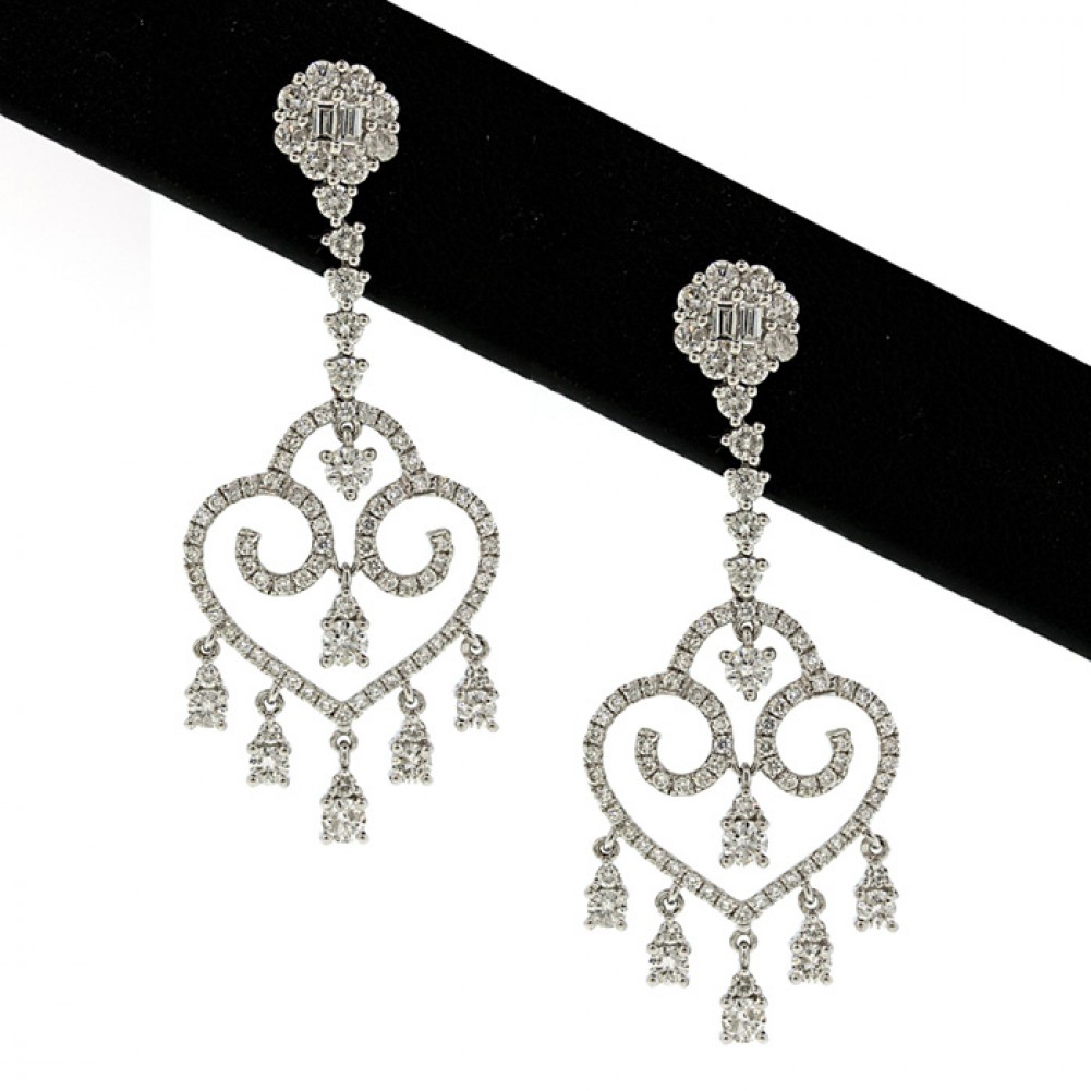 244 ct tw diamond chandelier earrings in 18kt white goldcheap 244 ct tw diamond chandelier earrings in 18kt white gold mozeypictures Image collections