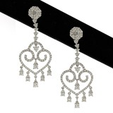 2.44 Ct TW Diamond Chandelier Earrings in 18Kt White Gold