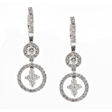 Double Drop Diamond Earrings
