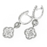 1.99Cts Diamond Drop Earrings 14Kt White Gold