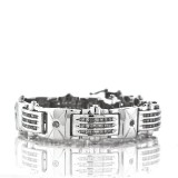 14Kt White Gold Round Cut Diamond Bracelet 2.59Cts TW