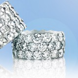 21.67CT 3 Row Round Diamond Eternity Band