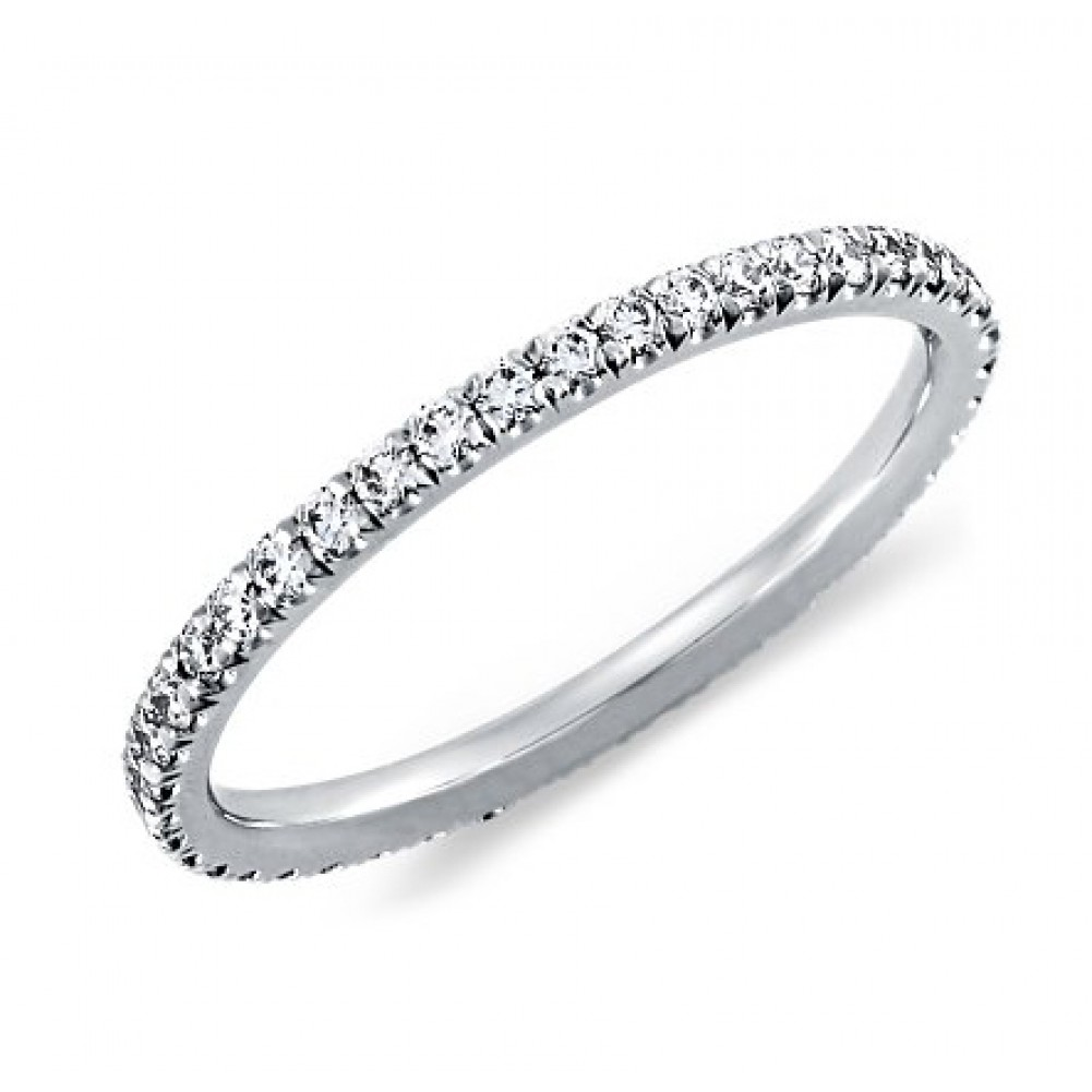 single row pave diamond eternity band - Cheap Diamond Wedding Rings